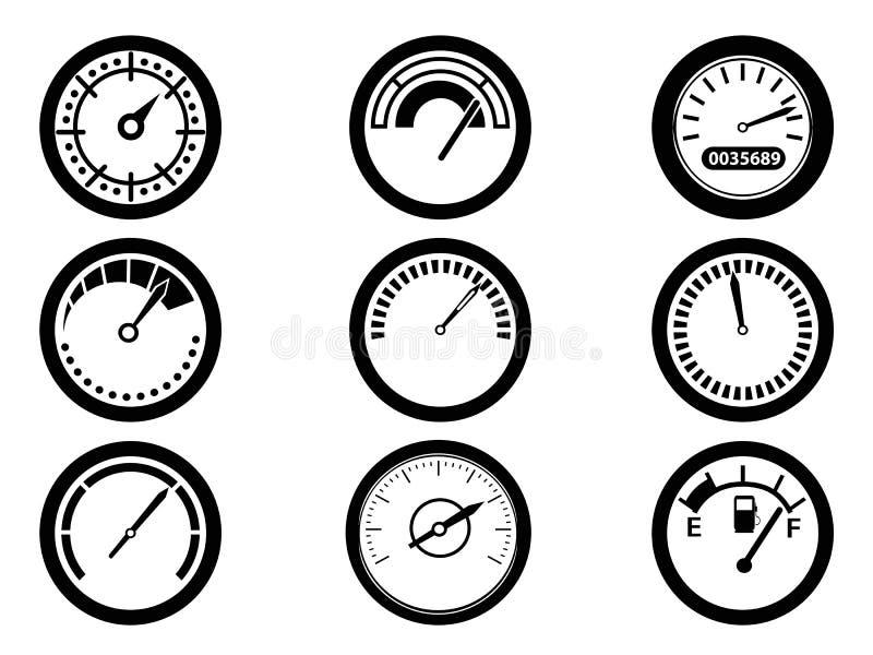 gauge icons stock vector  image of display  gauge  graphic
