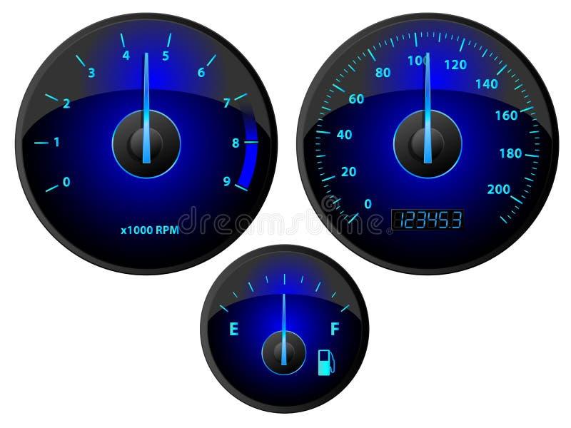 Download Gauges stock vector. Image of modern, measurement, dashboard - 26944170