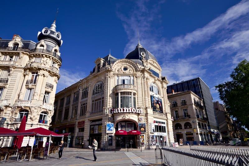 Gaumont στο μέρος de Λα Comedie στο Μονπελιέ στοκ φωτογραφία