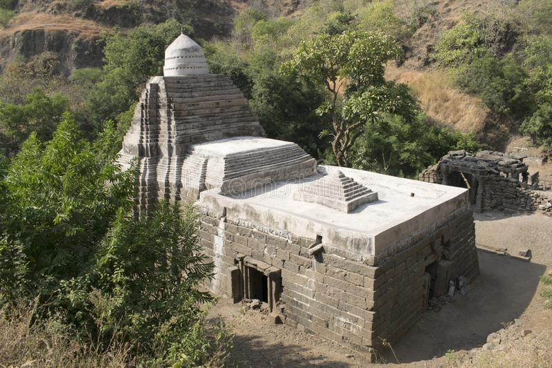 Gaumukh寺庙,洛纳尔在布尔达纳县,马哈拉施特拉,印度 免版税库存图片