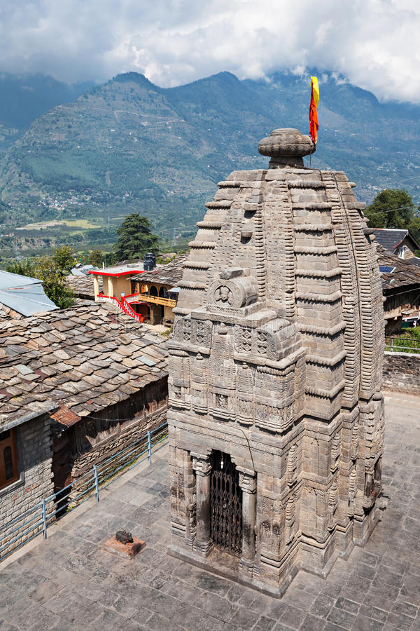 Gauri Shankar Temple. In Naggar, Himachal Pradesh, India stock images