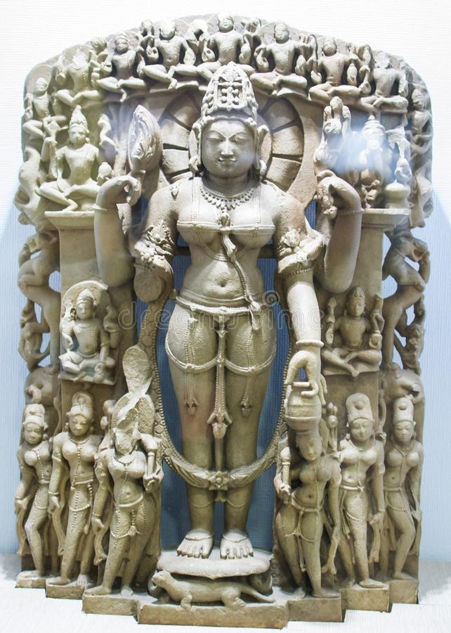 Gauri Stone Sculpture India image stock