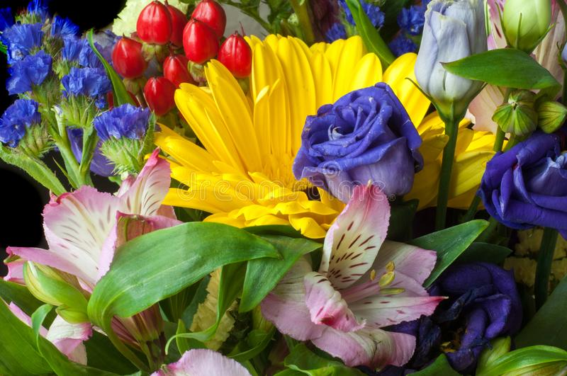 Gaussian blur is convenient for designers Beautiful bouquet of flowers ready for the big wedding. Ceremony stock images