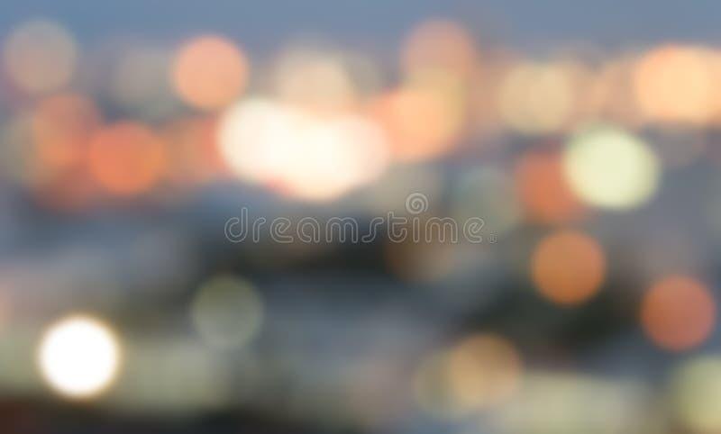 Gaussian Blur light in urban. Gaussian Blur defocused light in urban at night background royalty free stock images