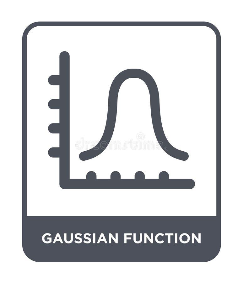 gaussian functiepictogram in in ontwerpstijl Gaussian functiepictogram op witte achtergrond wordt geïsoleerd die gaussian functie stock illustratie