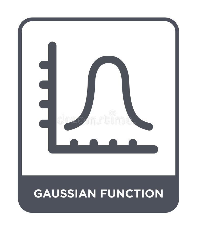 Gaussian function icon in trendy design style. gaussian function icon isolated on white background. gaussian function vector icon. Simple and modern flat symbol stock illustration