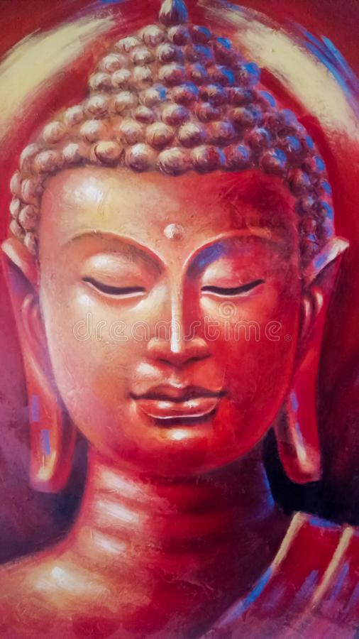 Gautam Buddha. An astounding Painting clicked by the eyes of an oathkeeper stock photos