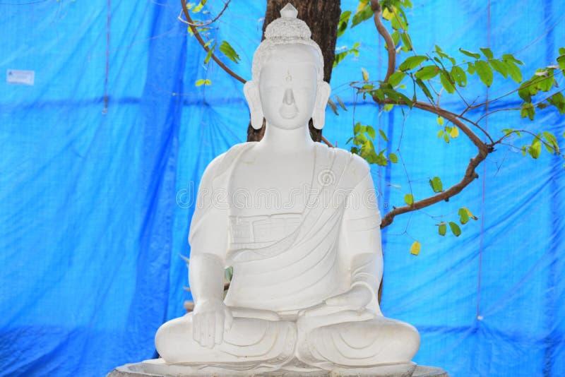 Gautam Buddha-meditatie stock foto