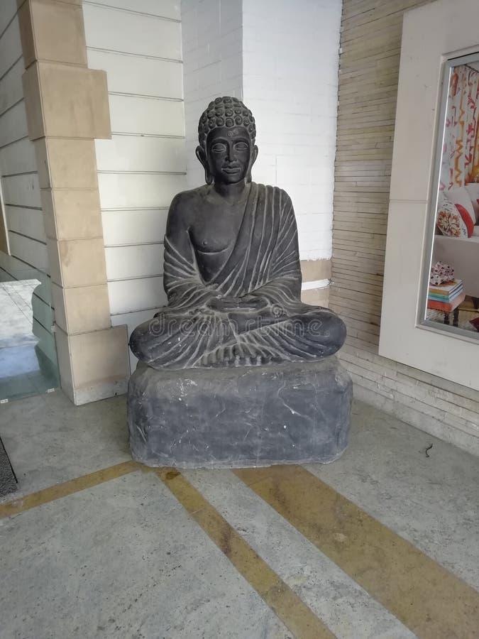 Gautam Buddha Statue immagini stock libere da diritti