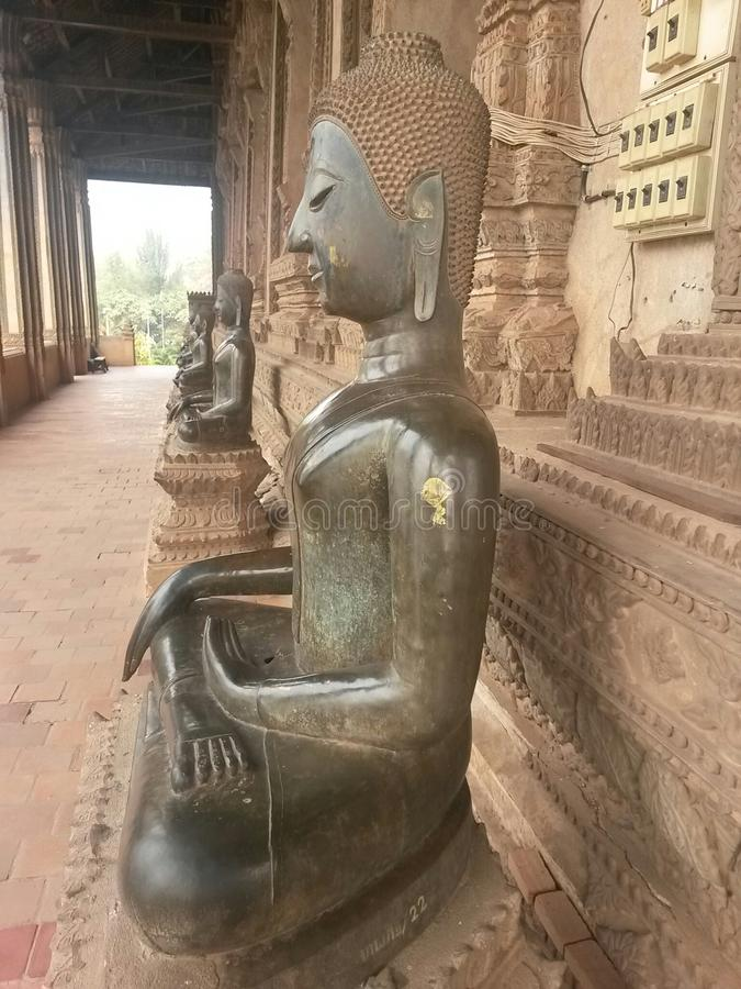 Buddha, Laos, Vientiane, South East Asia. Gautama Buddha, also known as Siddhārtha Gautama, Shakyamuni Buddha,or simply the Buddha, was an ascetic and sage,on royalty free stock images
