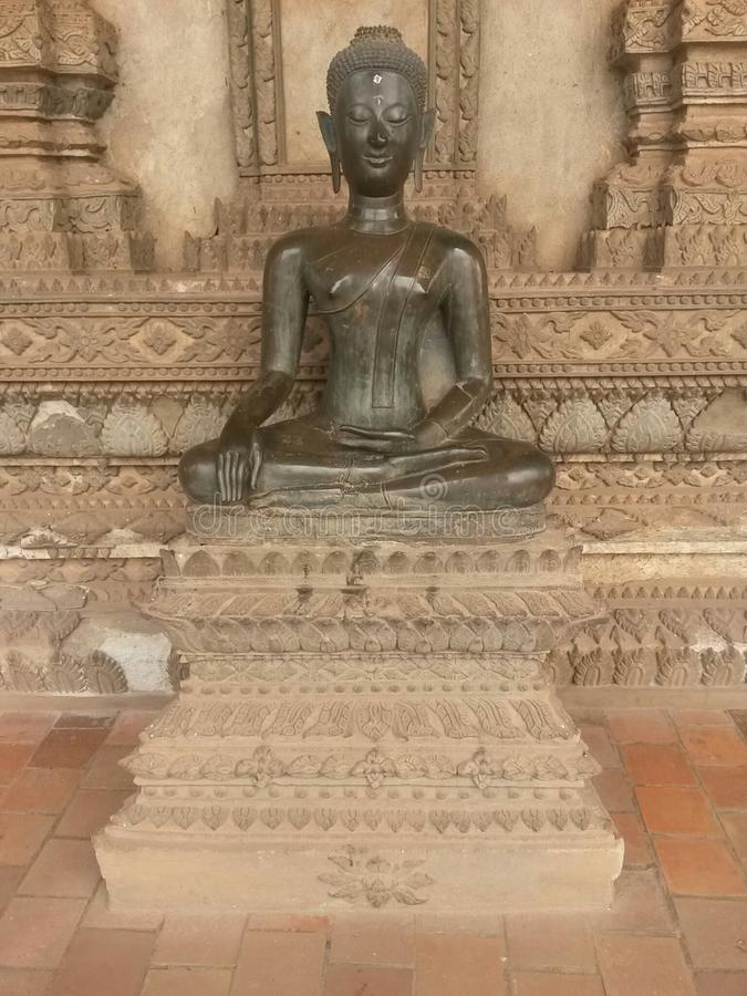 Buddha, Laos, Vientiane, South East Asia. Gautama Buddha, also known as Siddhārtha Gautama, Shakyamuni Buddha,or simply the Buddha, was an ascetic and sage,on royalty free stock image