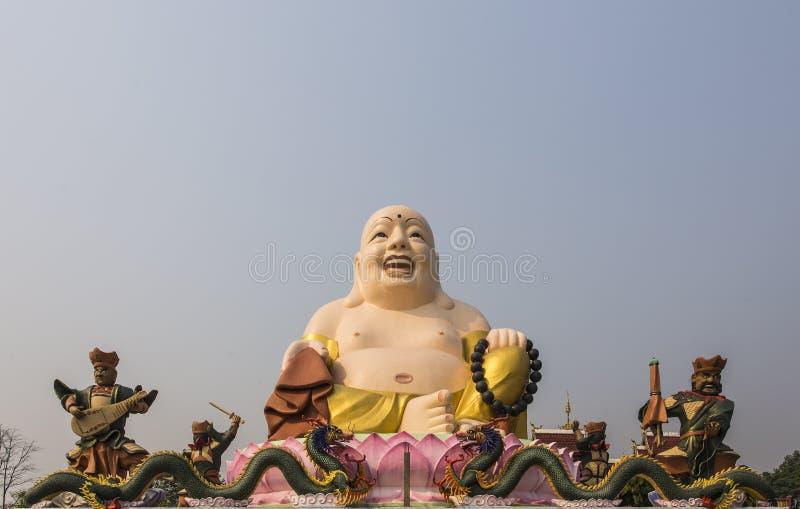 Gautama Buddha of Katyayana of Kasennen, groot standbeeld in Boeddhistische tempel stock afbeeldingen