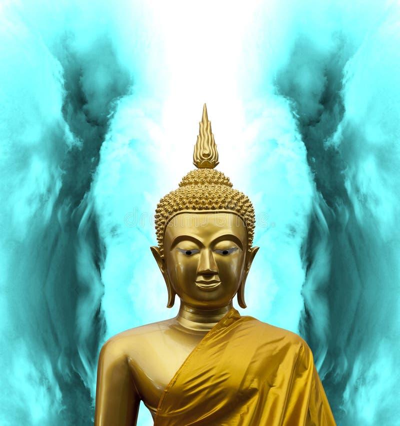 Gautama Buddha in meditatie royalty-vrije stock afbeeldingen