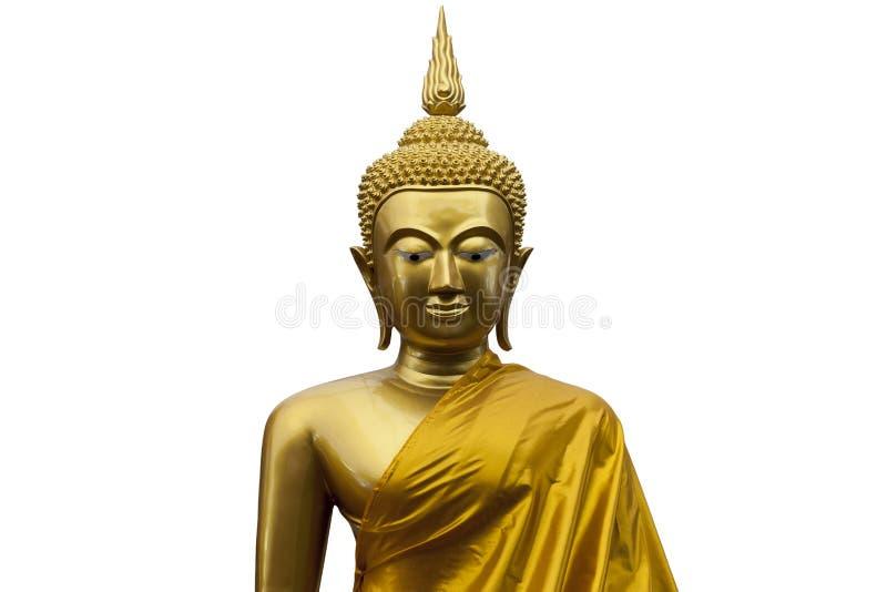 Gautama Buddha z długimi uszatymi lobes - odosobnionymi fotografia royalty free