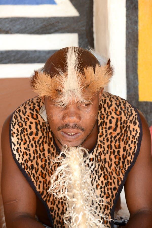 Gauteng, kulturelles Dorf Lesedi Südafrika - 12. März 2016 lizenzfreies stockfoto