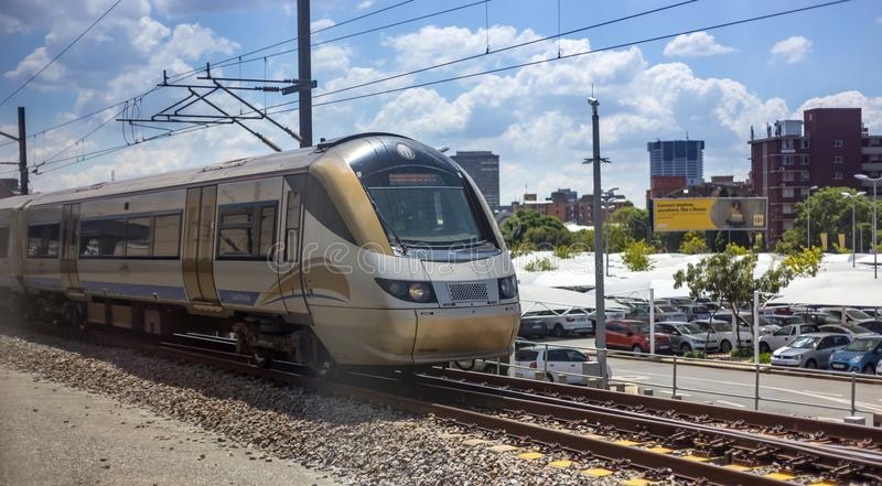 Gautrain station nära Pretoria royaltyfria bilder