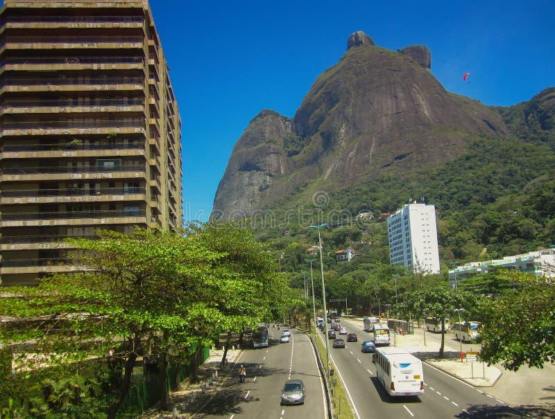 Gavea Stone (Pedra DA Gavea) - Ρίο ντε Τζανέιρο. στοκ φωτογραφίες με δικαίωμα ελεύθερης χρήσης