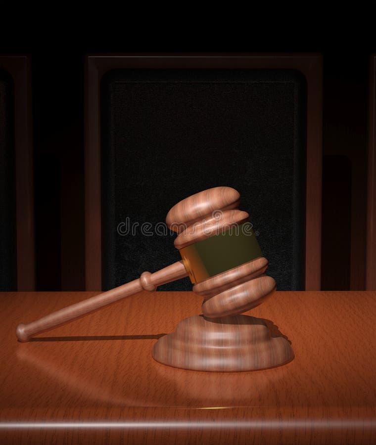 Gavel δικαστηρίου απεικόνιση αποθεμάτων
