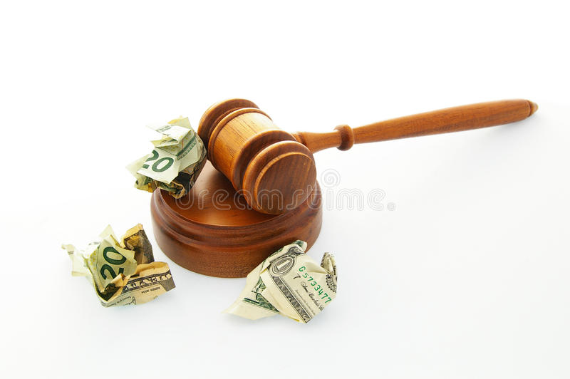 gavel δικαστηρίων μετρητών νομι στοκ φωτογραφίες