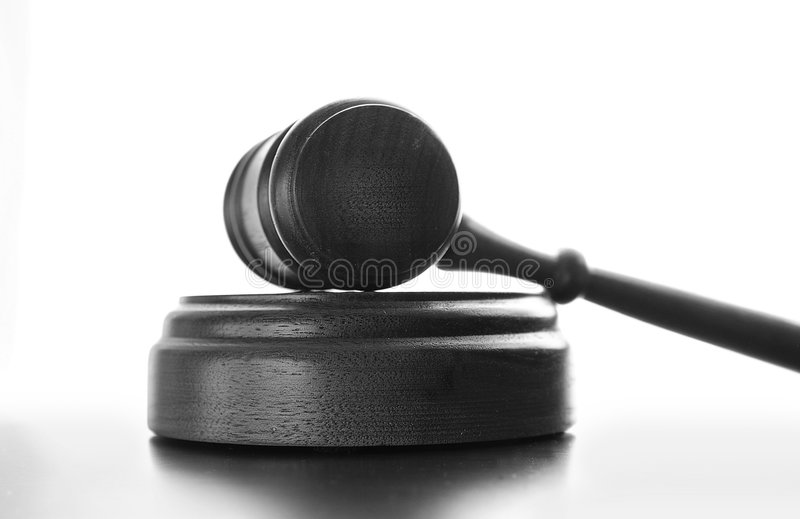 gavel δικαστηρίων στοκ εικόνα με δικαίωμα ελεύθερης χρήσης