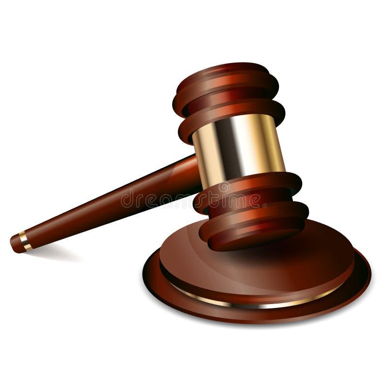 Gavel δικαστών διανυσματική απεικόνιση