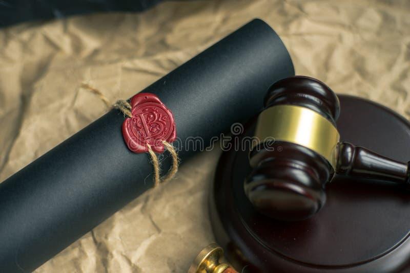 Gavel νόμου στο δικαστήριο Έννοια δικαιοσύνης νομικών συστημάτων στοκ φωτογραφίες με δικαίωμα ελεύθερης χρήσης