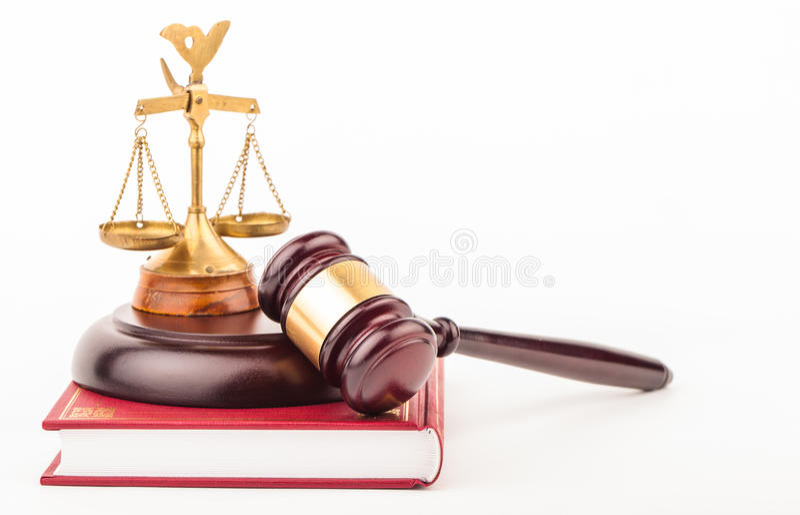 Gavel νόμου στοκ εικόνες