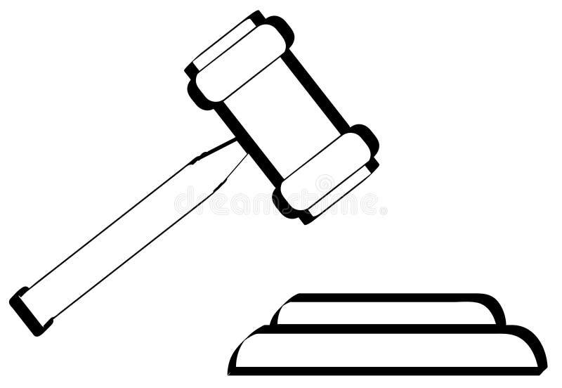 gavel περίγραμμα απεικόνιση αποθεμάτων