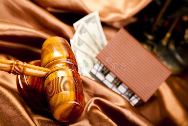 gavel судит деревянным стоковое фото