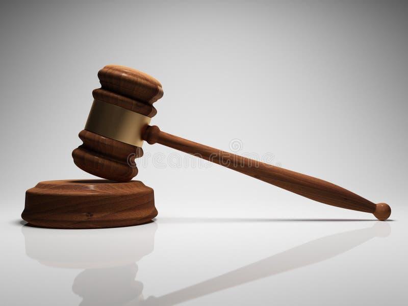 Gavel судьи иллюстрация штока