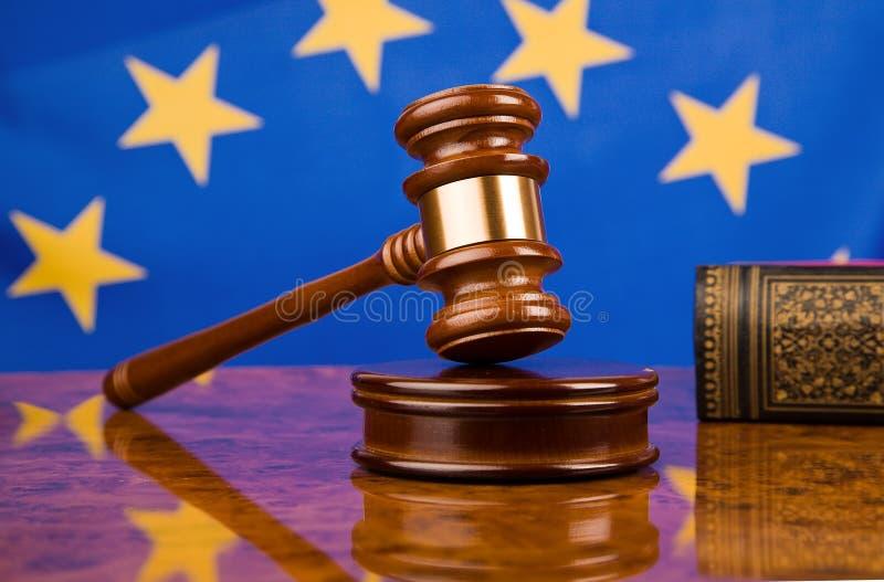gavel флага eu стоковое изображение