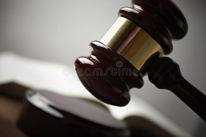 Gavel foto de stock