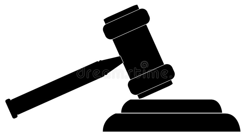 Gavel illustration stock