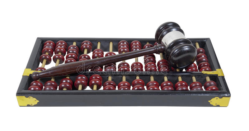 Gavel and Abacus royalty free stock photos