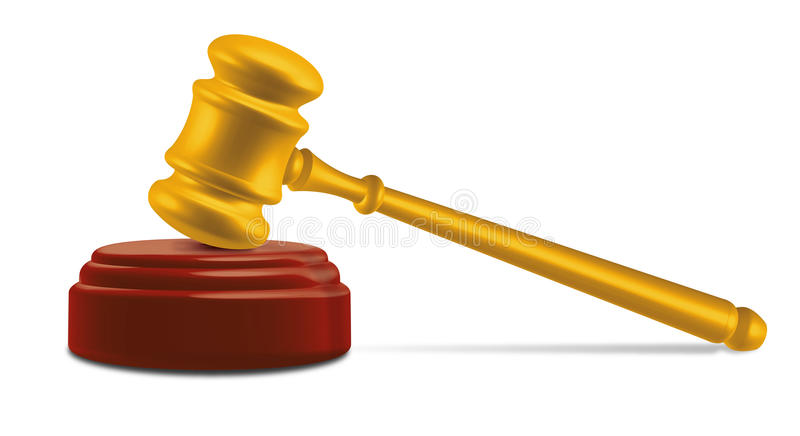 Gavel on anvil royalty free illustration