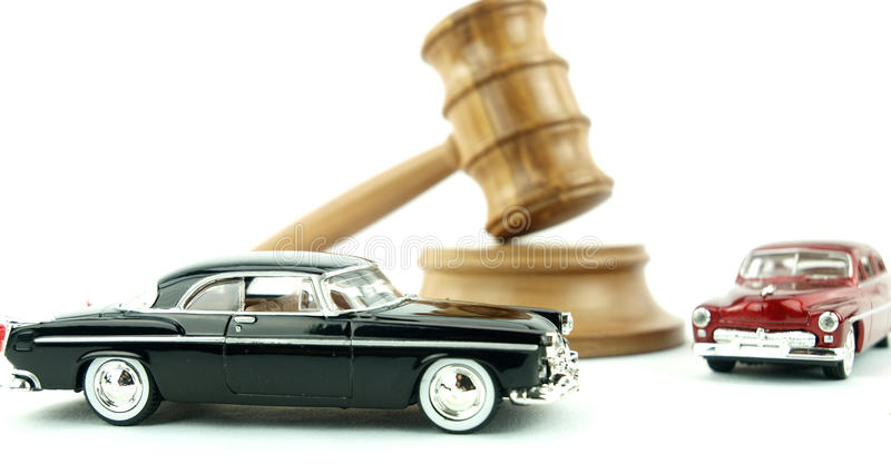 Gavel auction and cars royalty free stock images