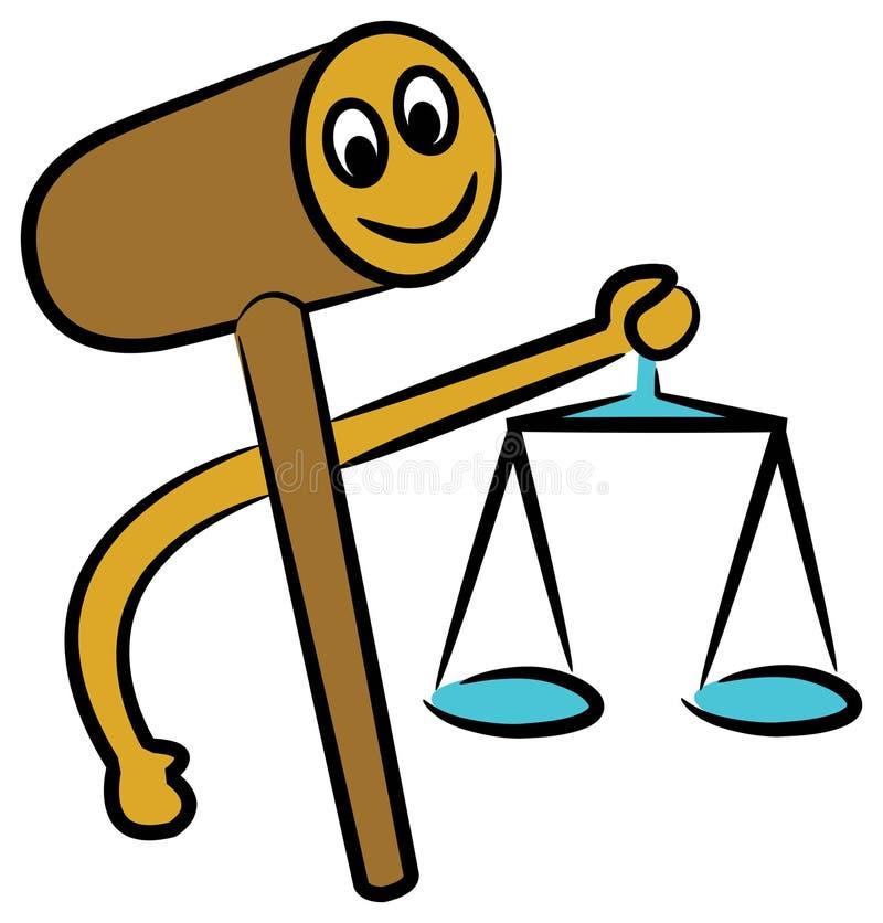 Gavel avec l'équilibre illustration libre de droits
