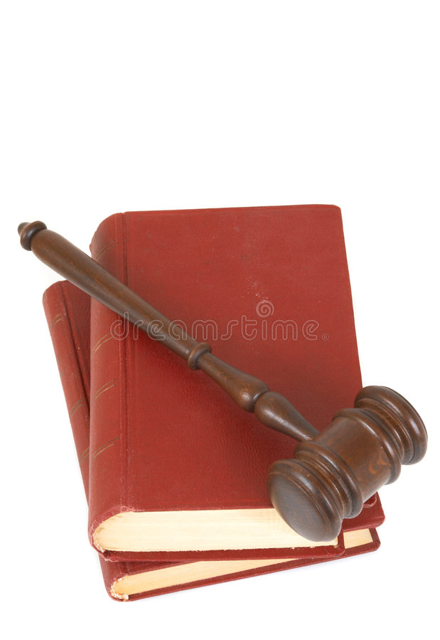 Gavel and book stock image