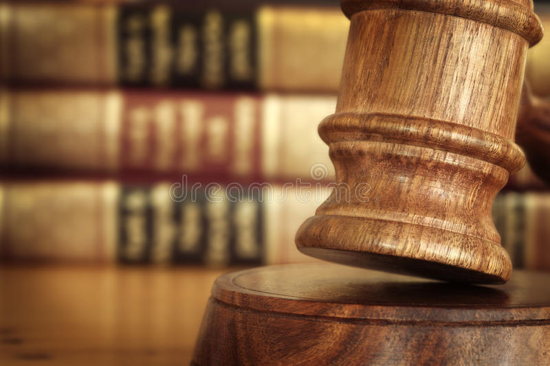 Gavel and Books stock image