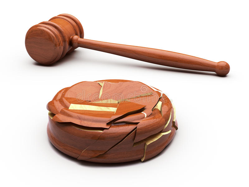 Download Gavel And Broken Anvil Stock Photo - Image: 19487970