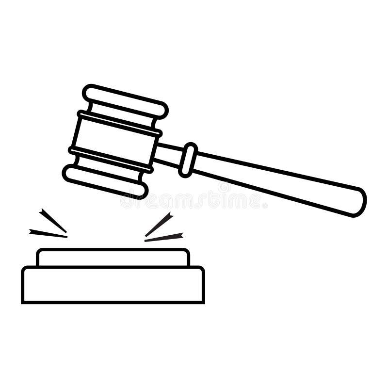 Gavel, conception d'ensemble Illustration de vecteur illustration libre de droits