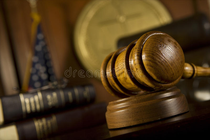 Gavel In Court Room stock images