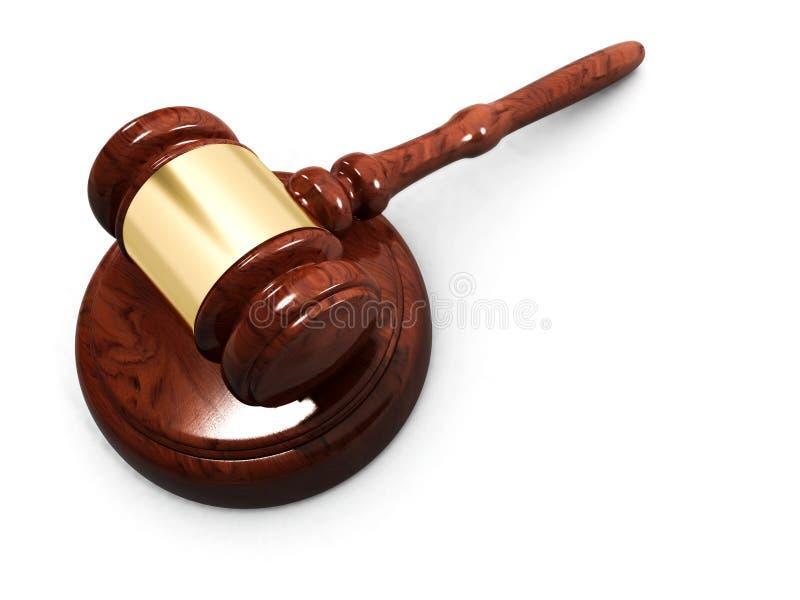 Gavel de justiça ilustração royalty free