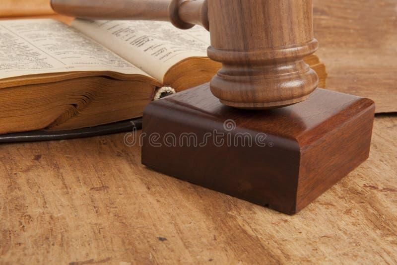 Gavel de madeira foto de stock