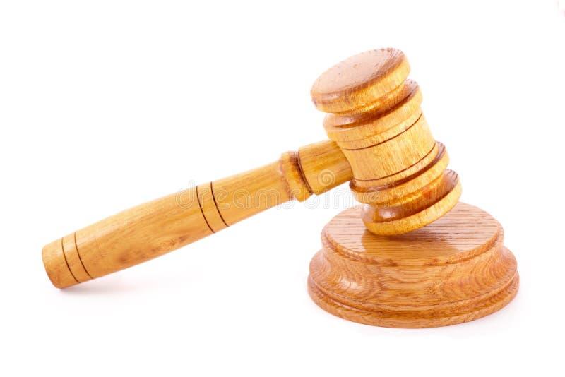Gavel dos juizes fotografia de stock