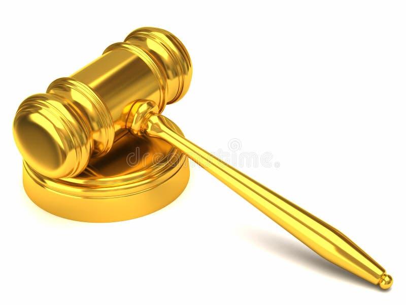 Gavel dourado ilustração do vetor