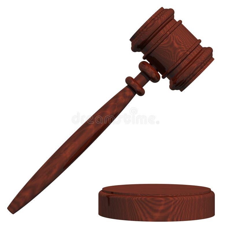 Gavel du juge illustration de vecteur