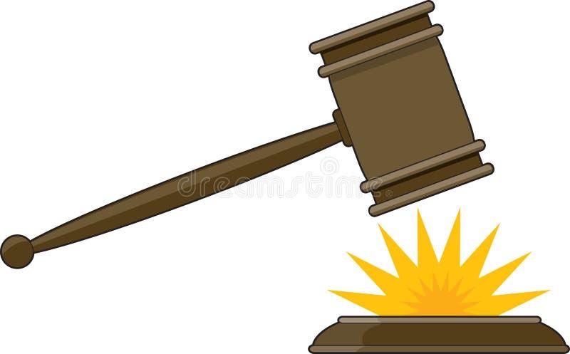 Gavel du juge illustration stock