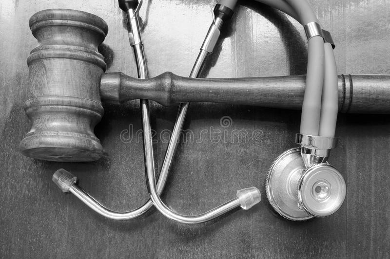 Gavel et stéthoscope photo stock