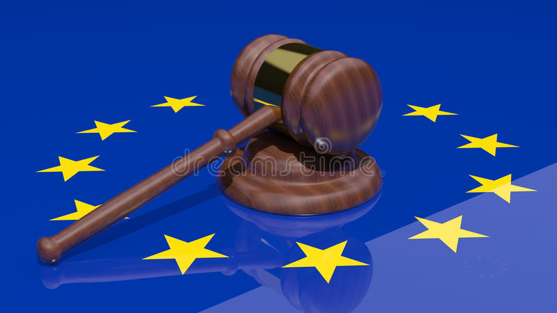 Download Gavel and european flag stock illustration. Illustration of hammer - 26589354